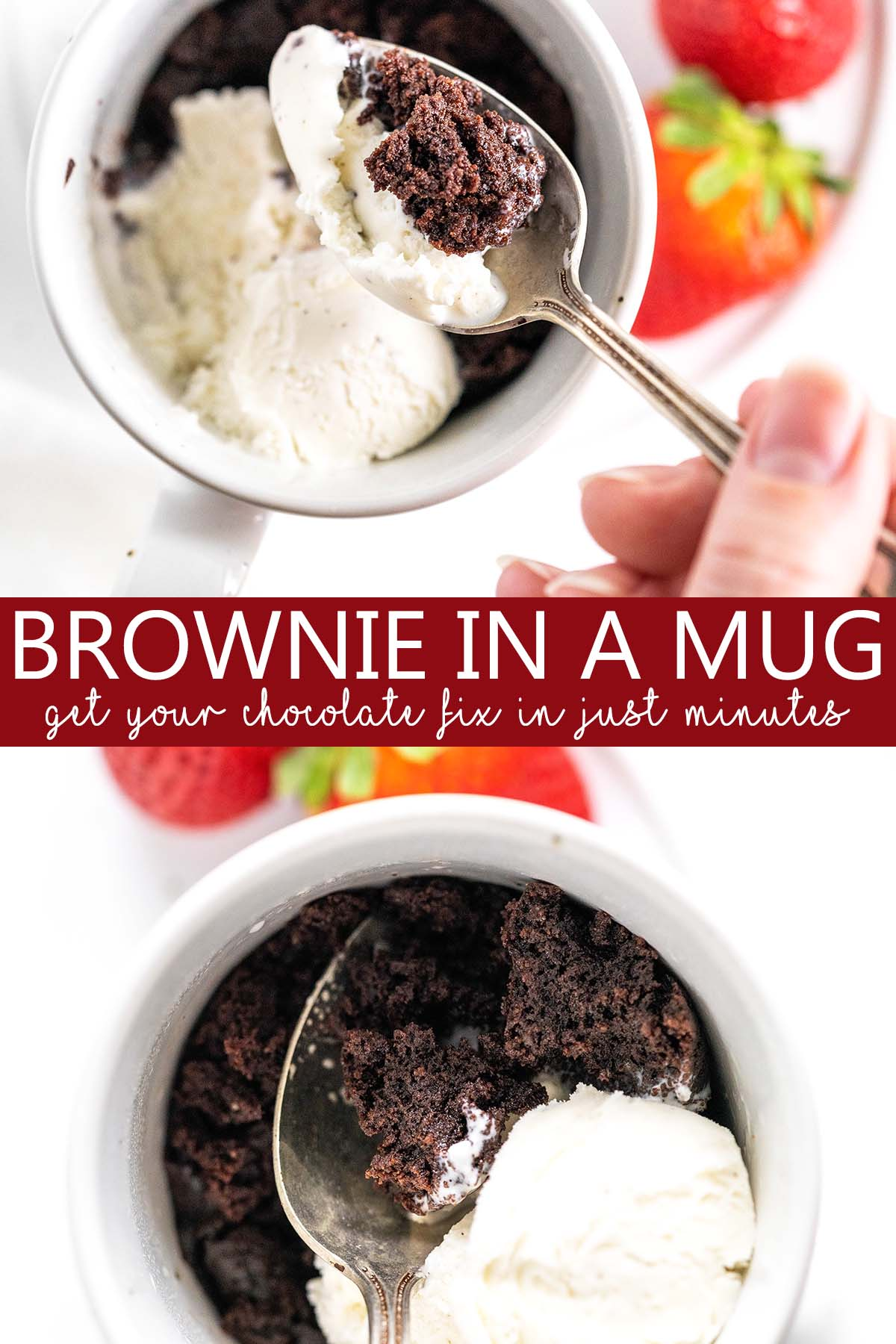 brownie in a mug recipe pin