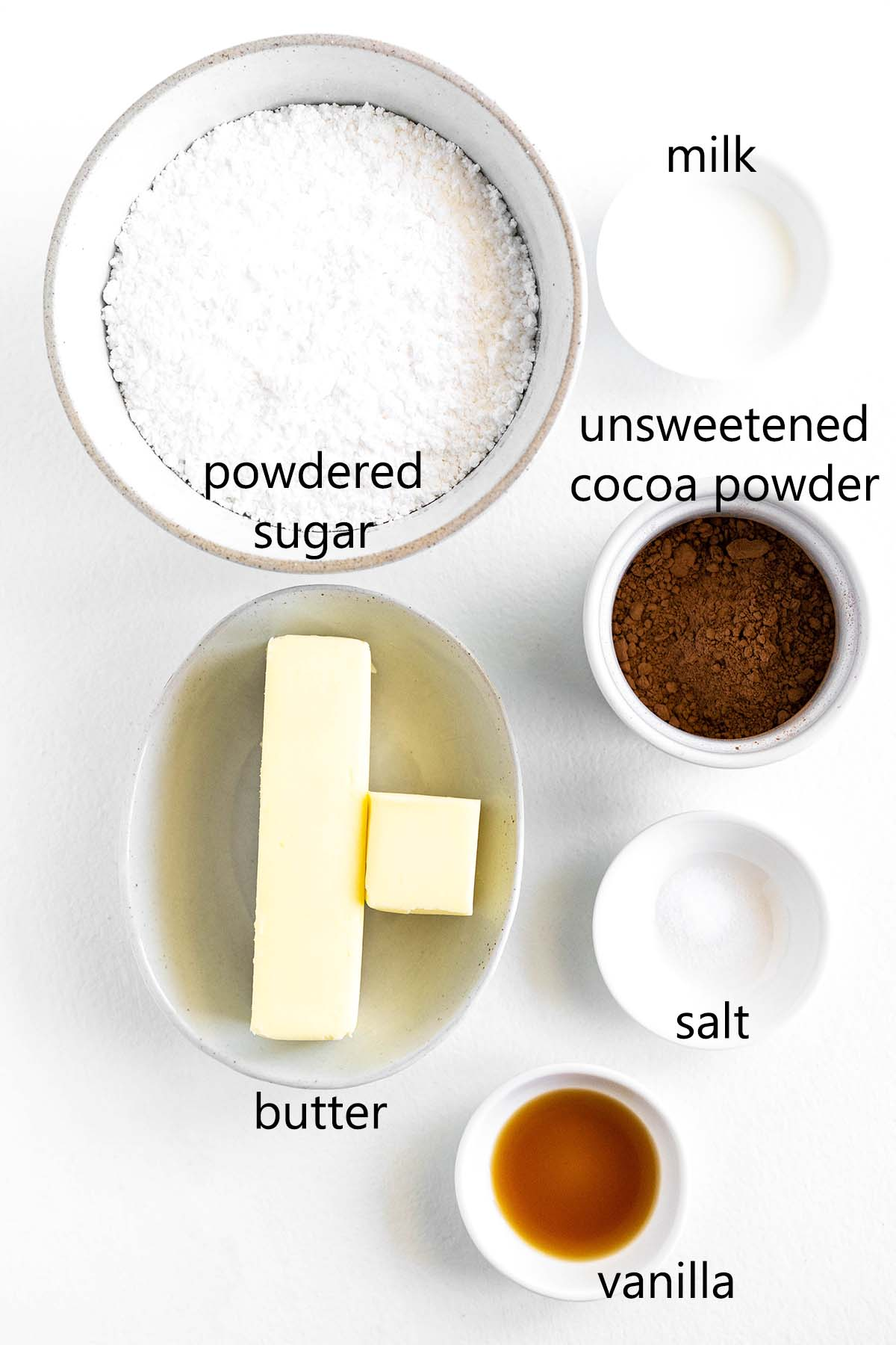 chocolate frosting ingredients