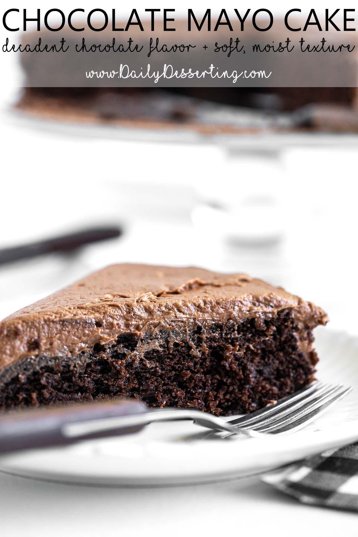 chocolate mayo cake graphic