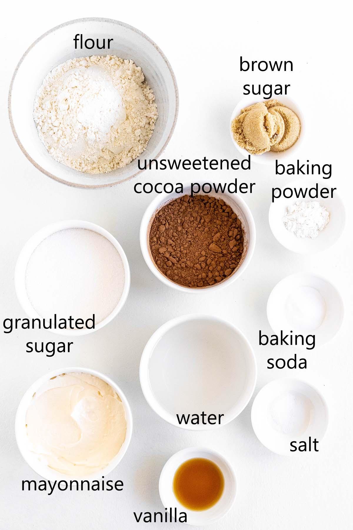 chocolate mayo cake ingredients