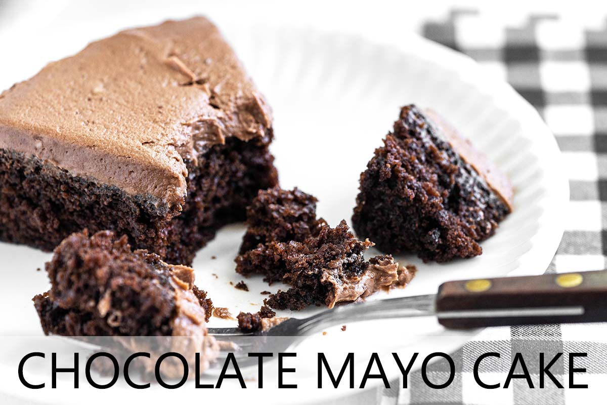 chocolate mayo cake with description