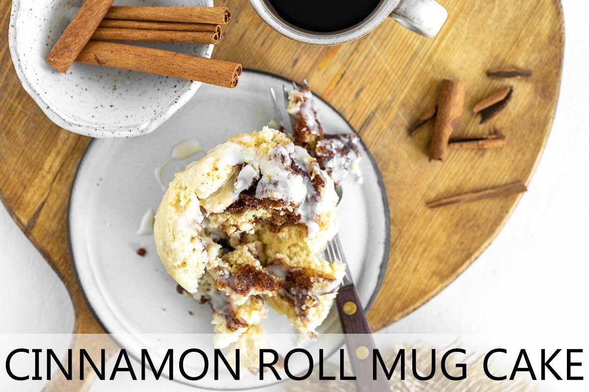 cinnamon roll mug cake with description