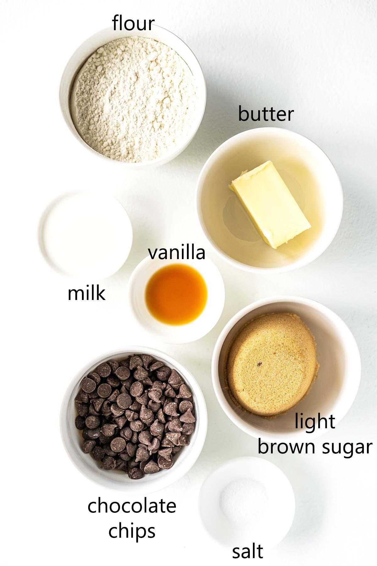 edible cookie dough ingredients