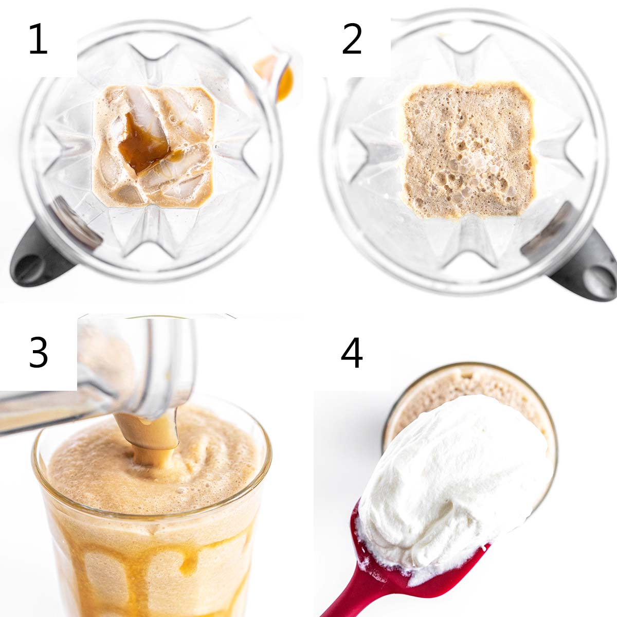 how to make a caramel frappuccino at home