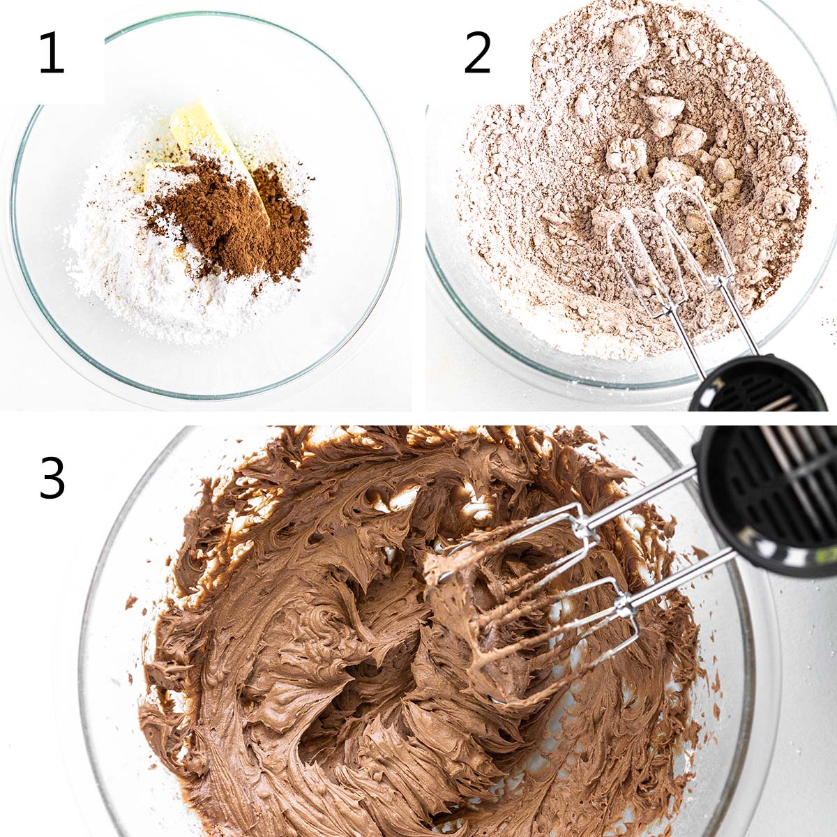 how to make chocolate frosting collage