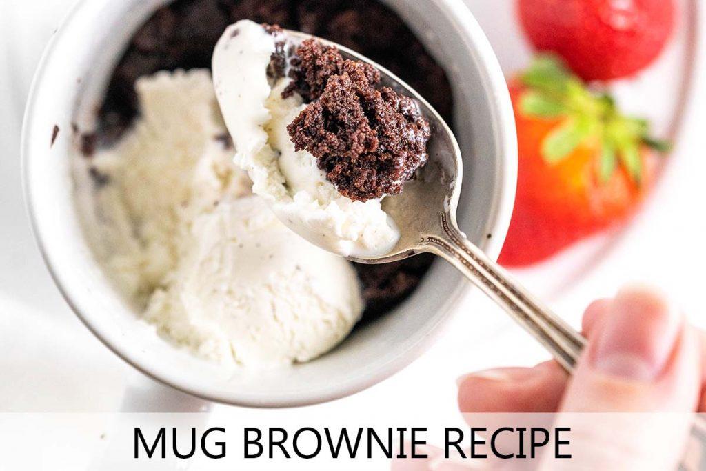 mug brownie recipe with description