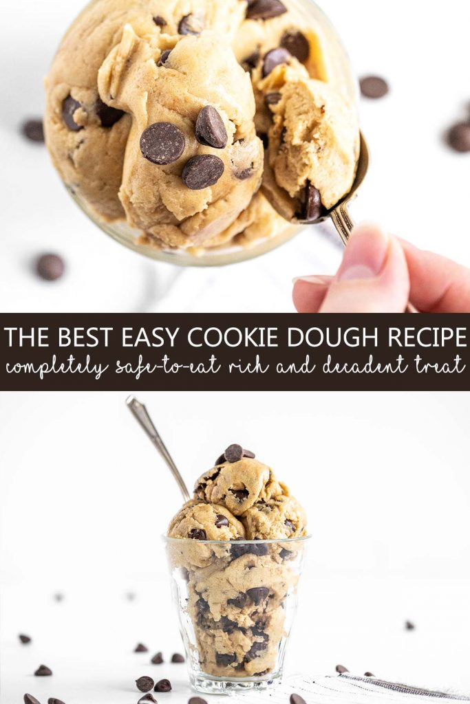 the best easy cookie dough recipe pin