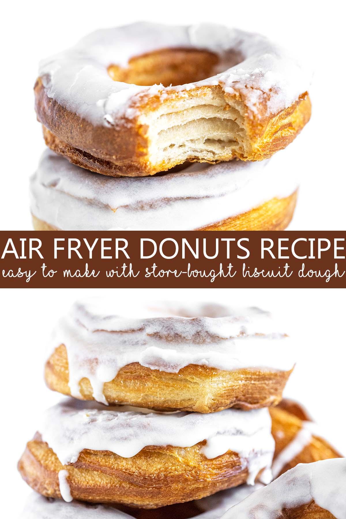 air fryer donuts recipe pin
