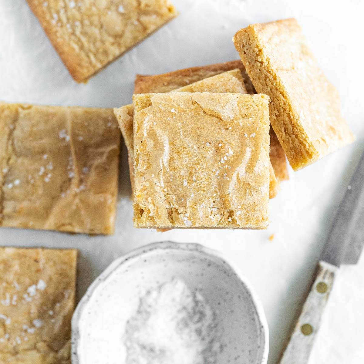 brown butter blondies feature image