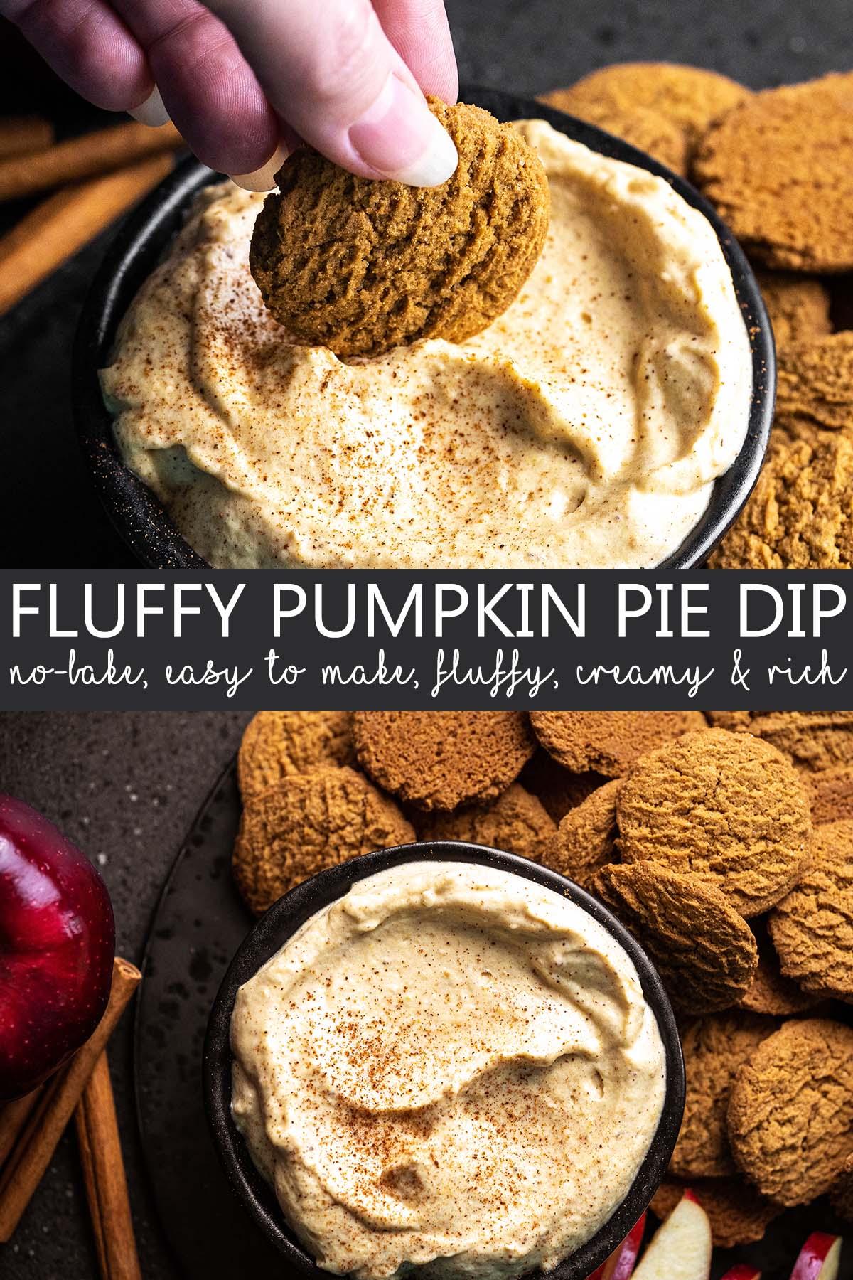 creamy no bake pumpkin dip pin