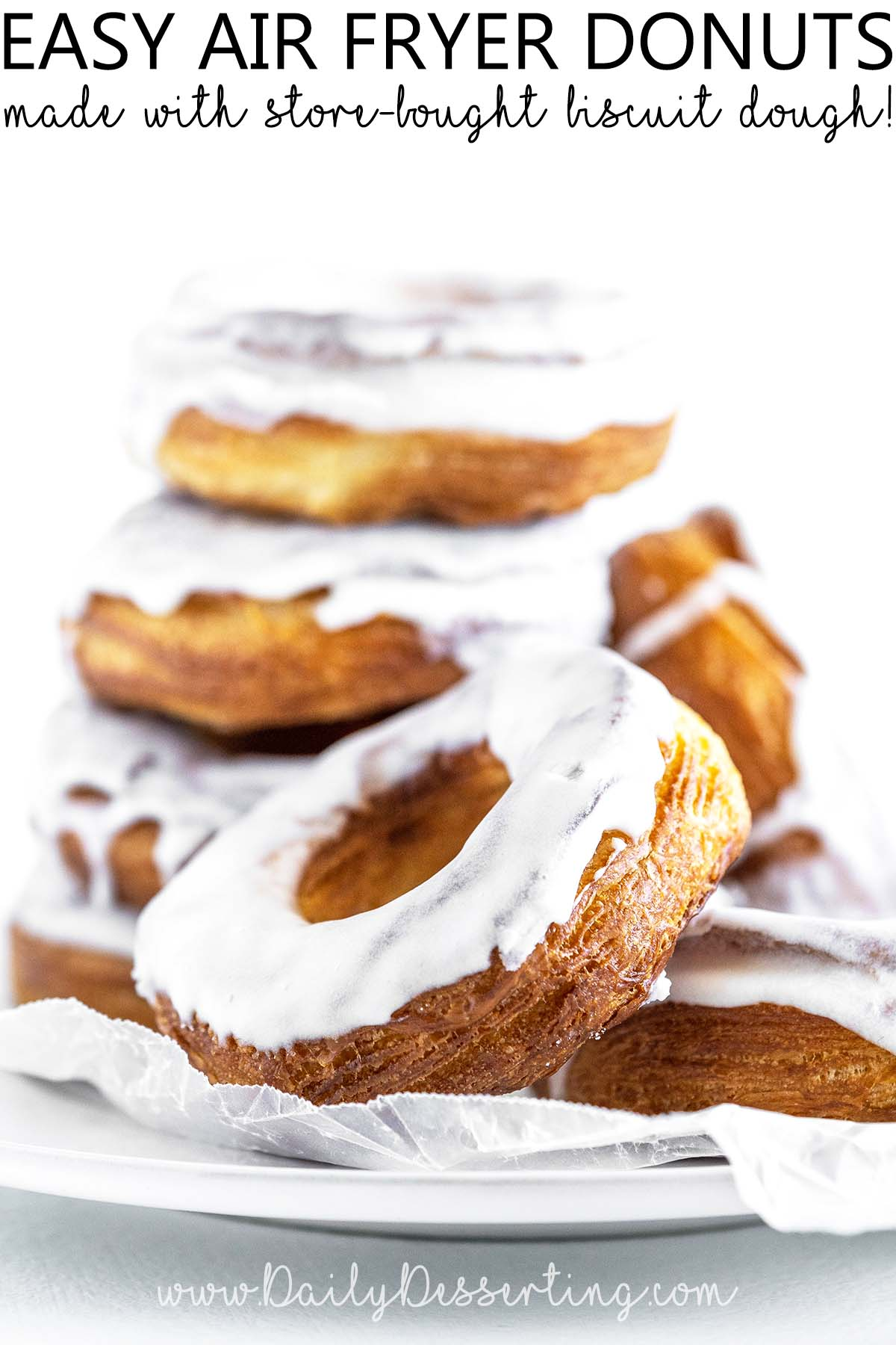 easy air fryer donuts graphic