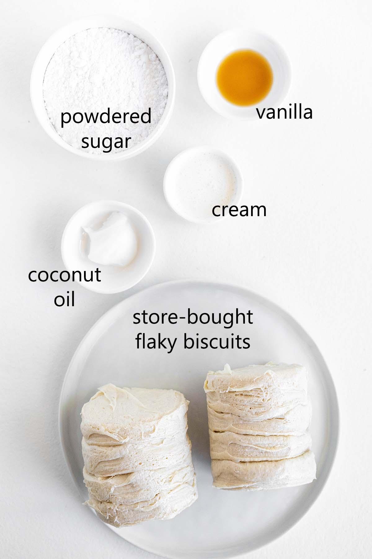 easy air fryer donuts ingredients