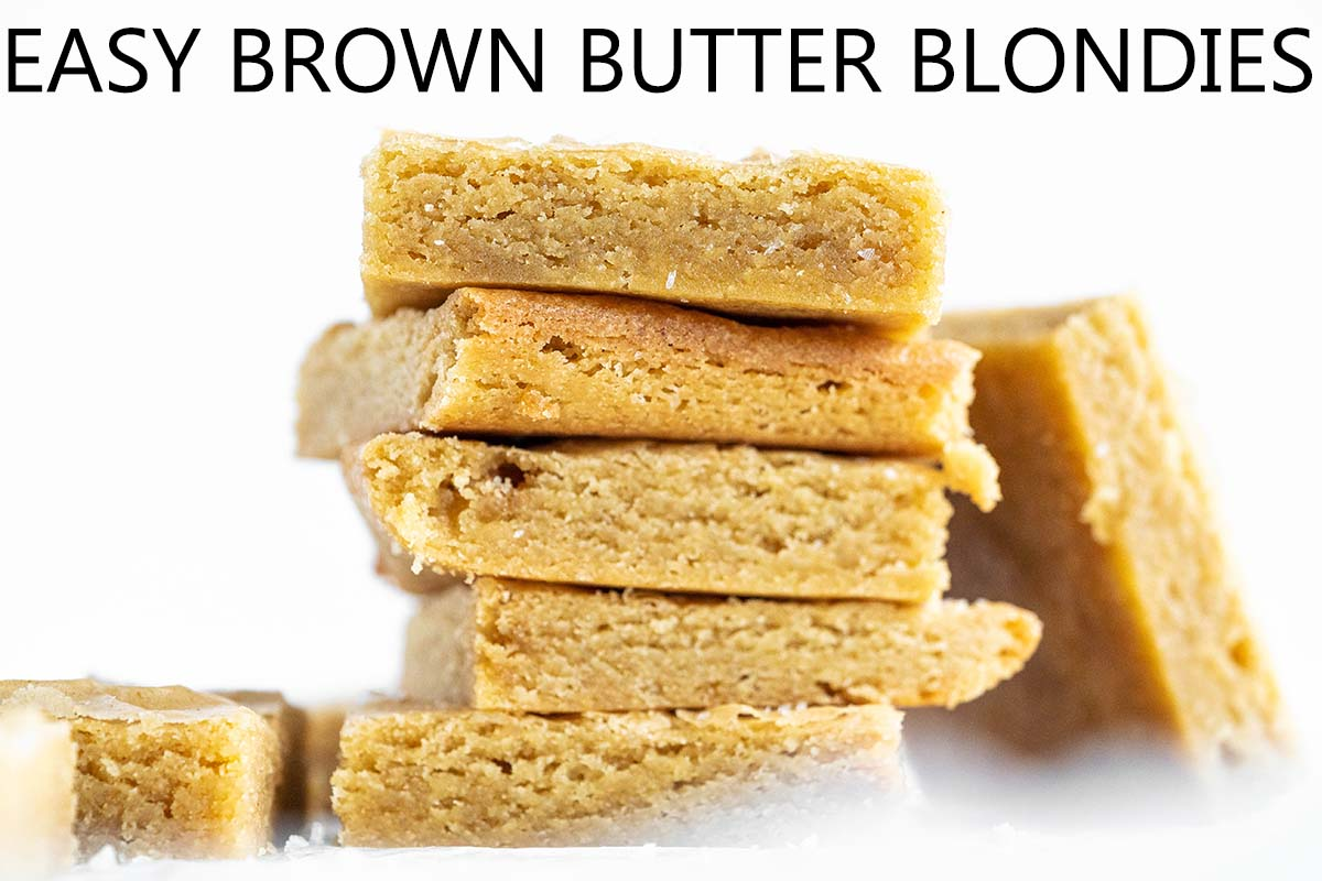 easy brown butter blondies with description
