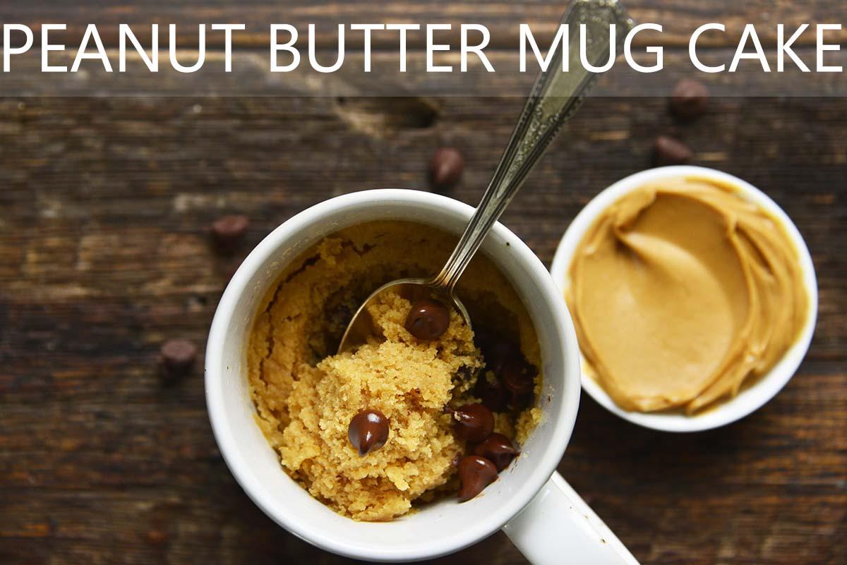 easy chocolate peanut butter mug cake with description