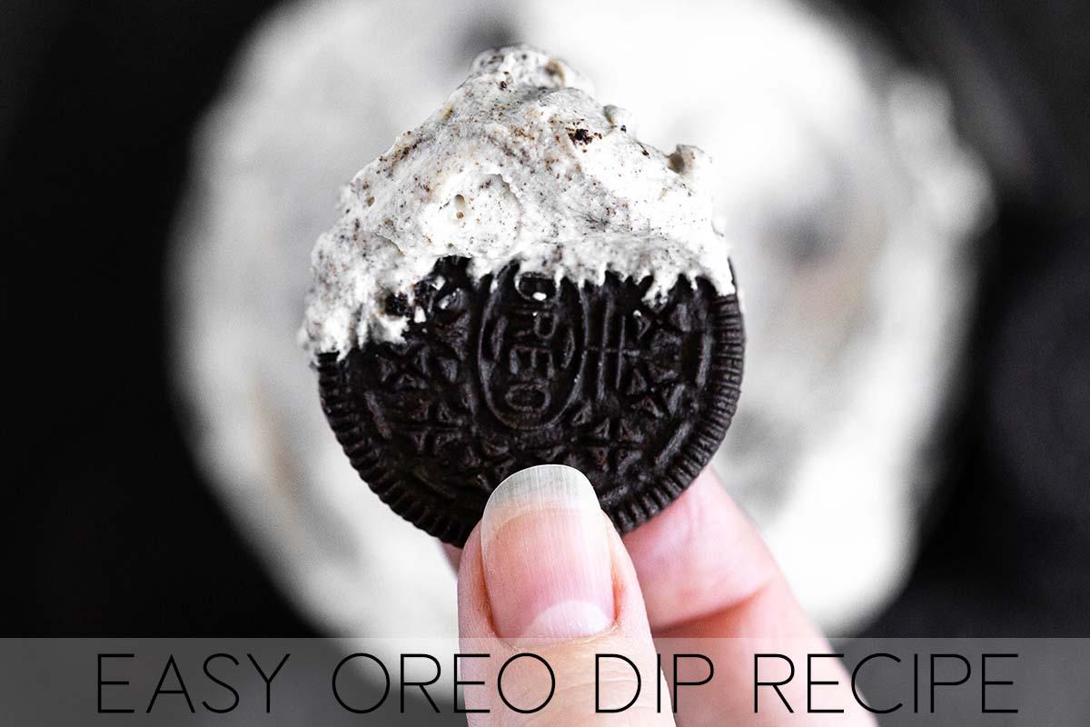 easy oreo dip recipe with description