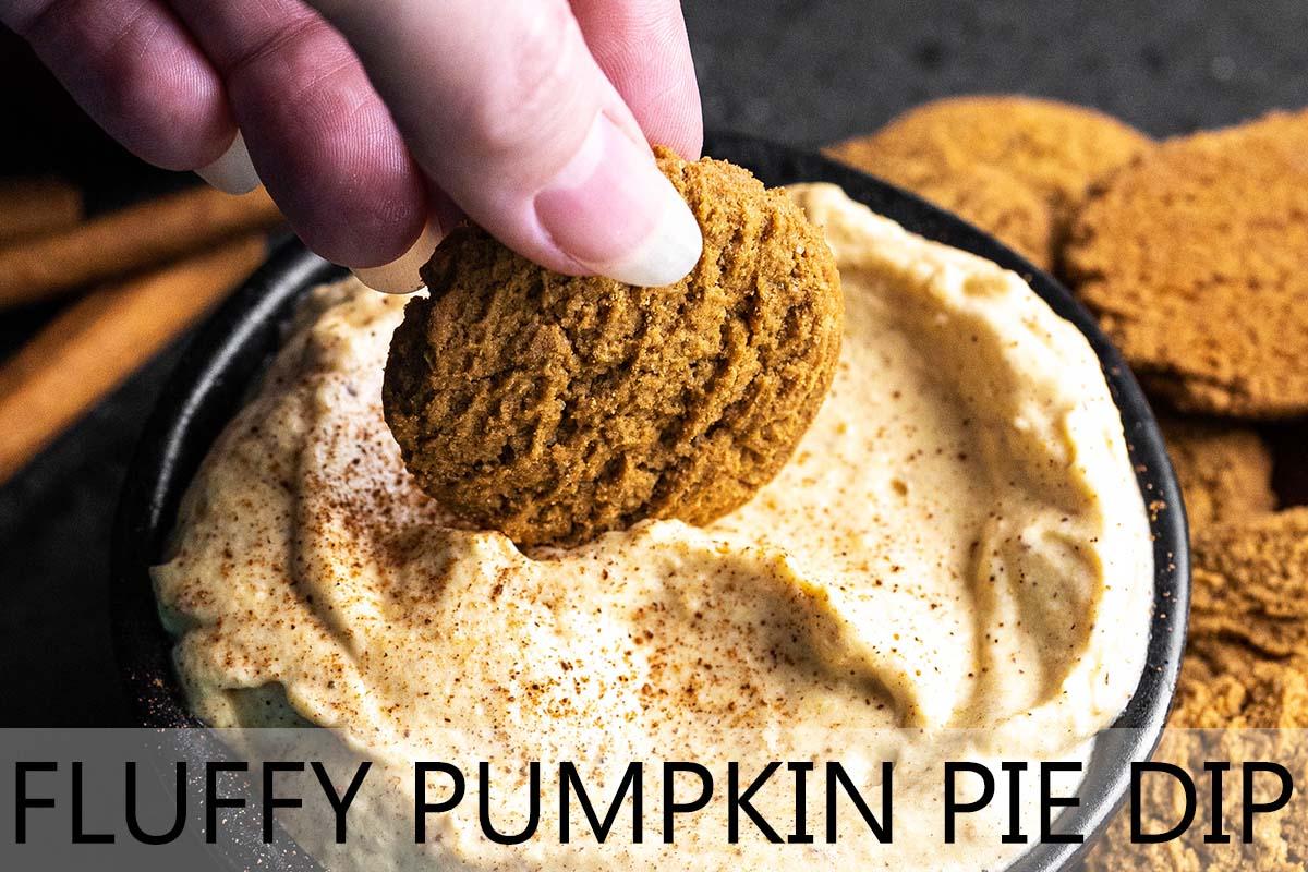 fluffy pumpkin pie dip with description