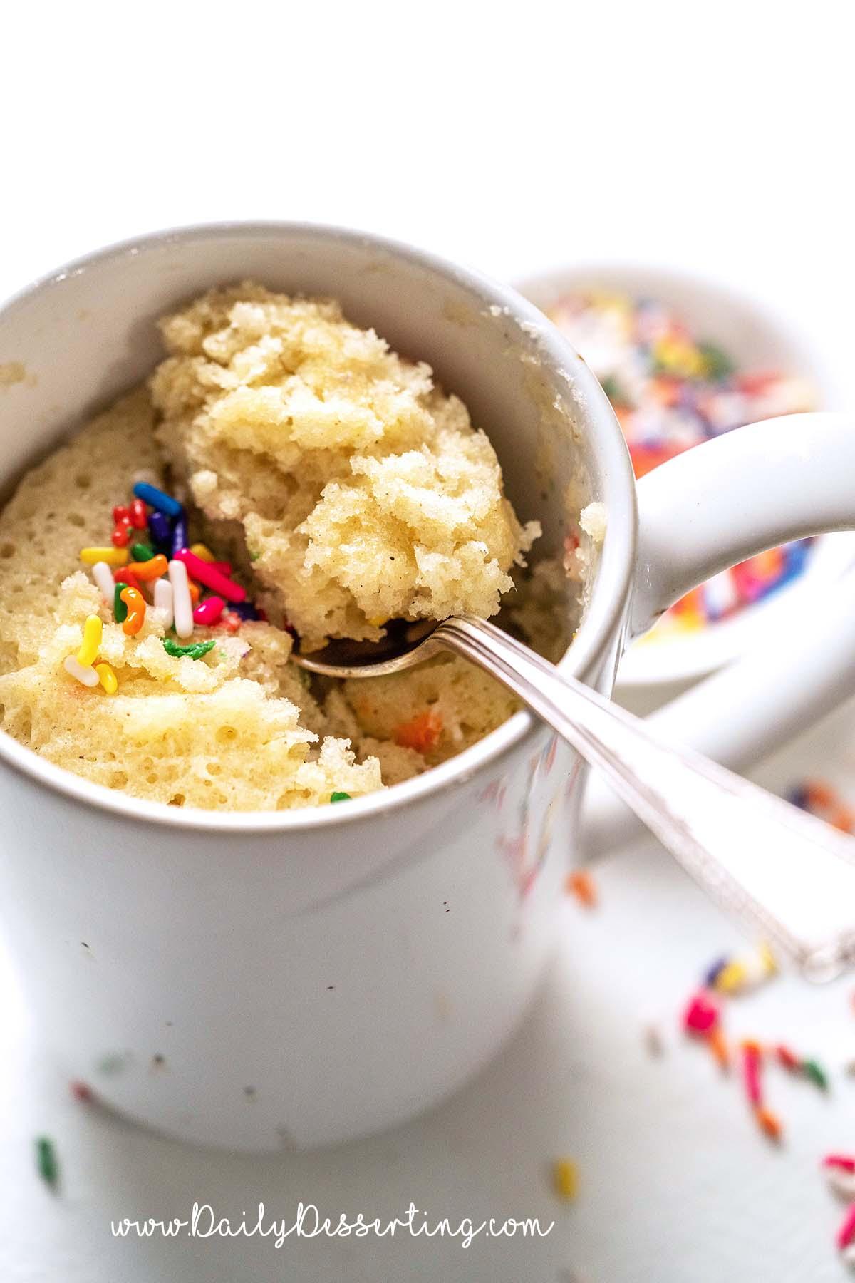 microwave vanilla mug cake