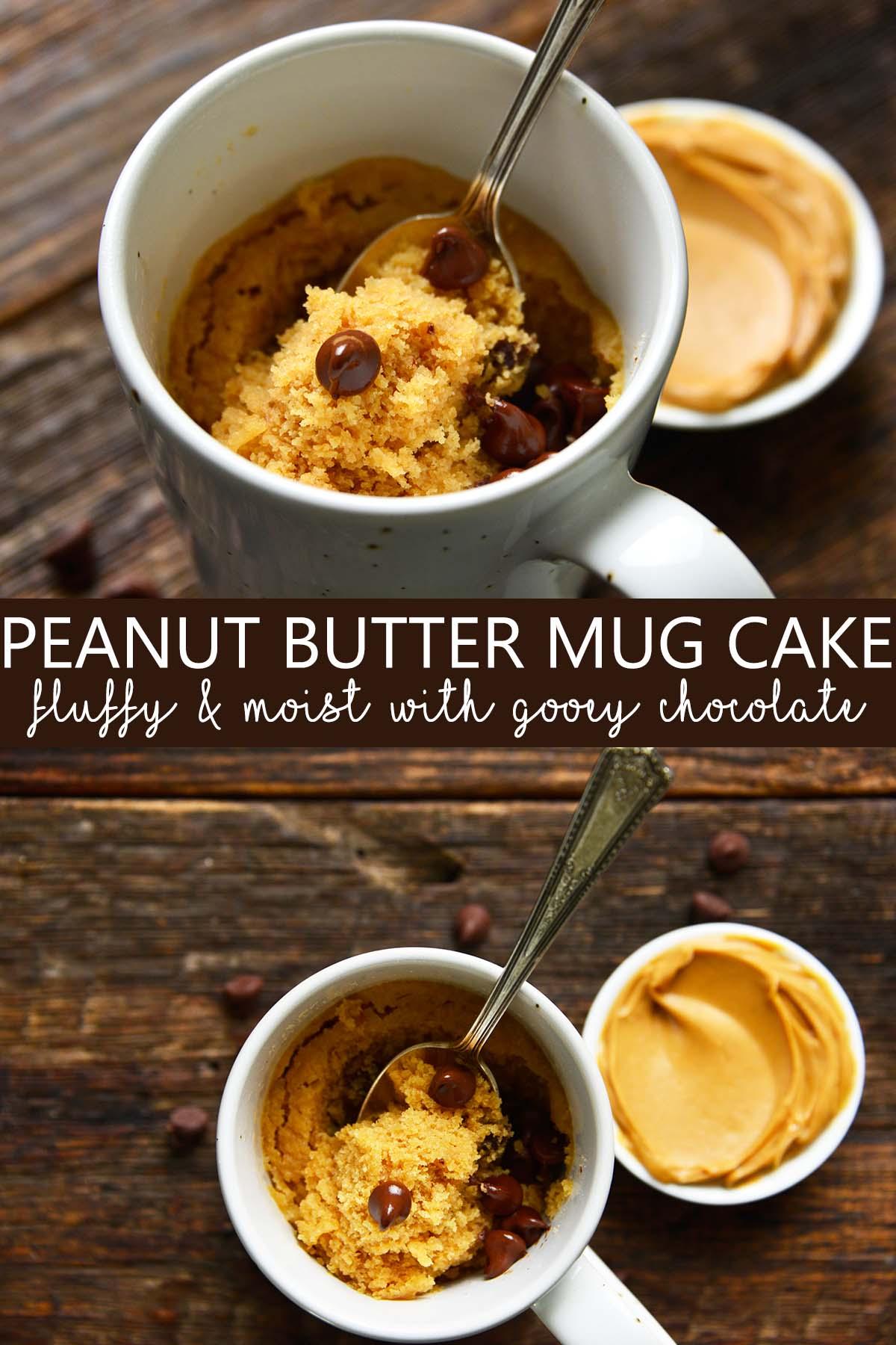 peanut butter mug cake pin