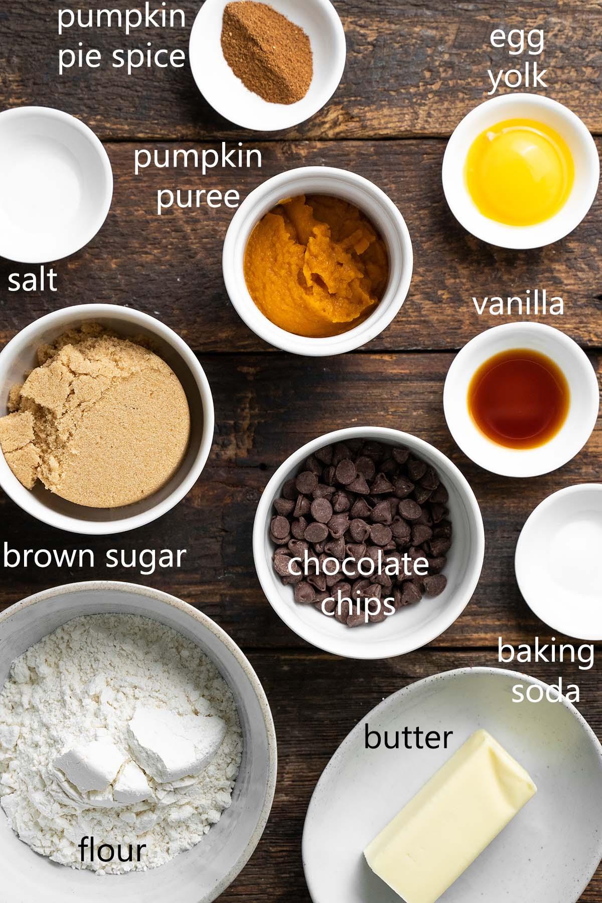 pumpkin chocolate chip cookie ingredients