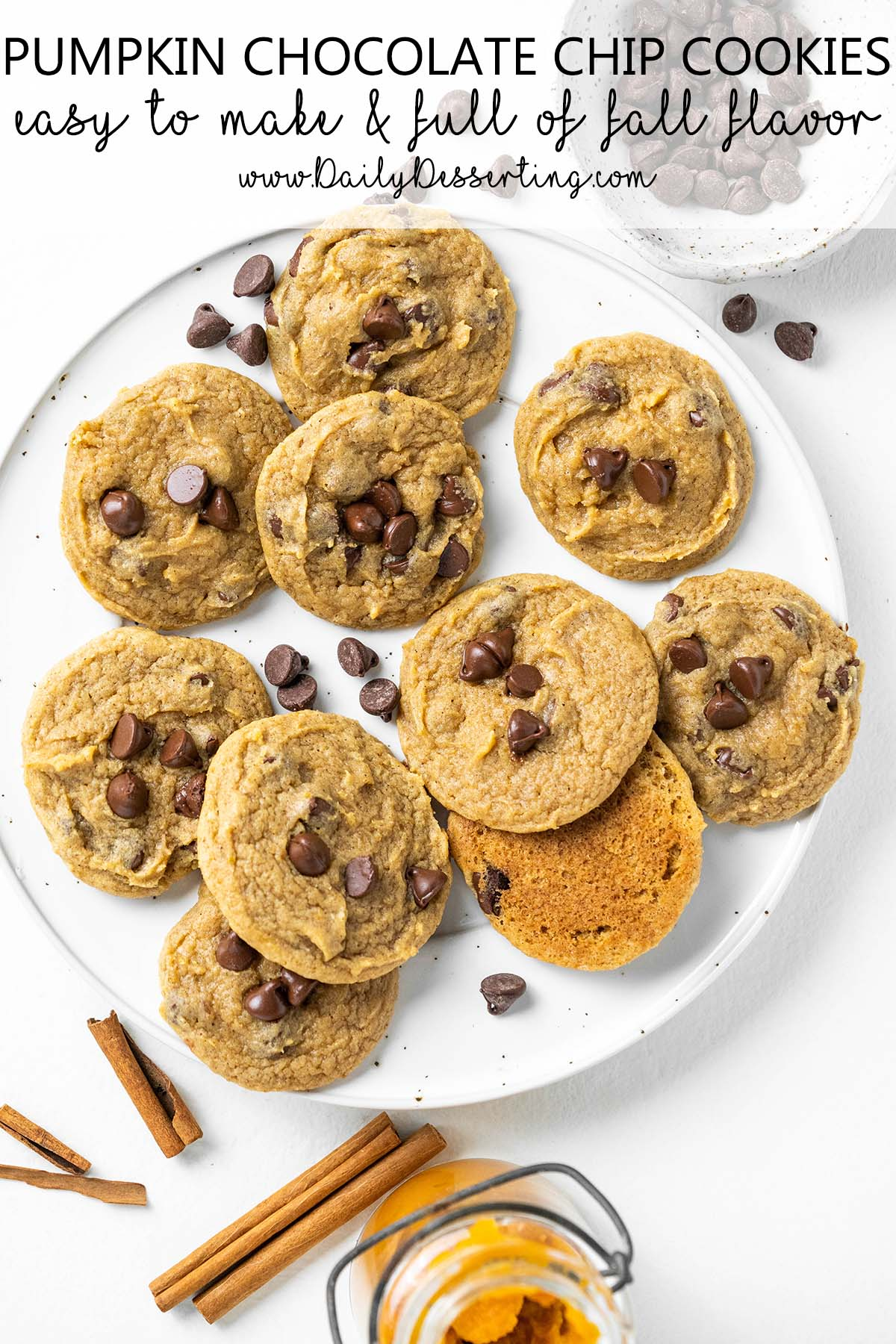 pumpkin chocolate chip cookies graphic