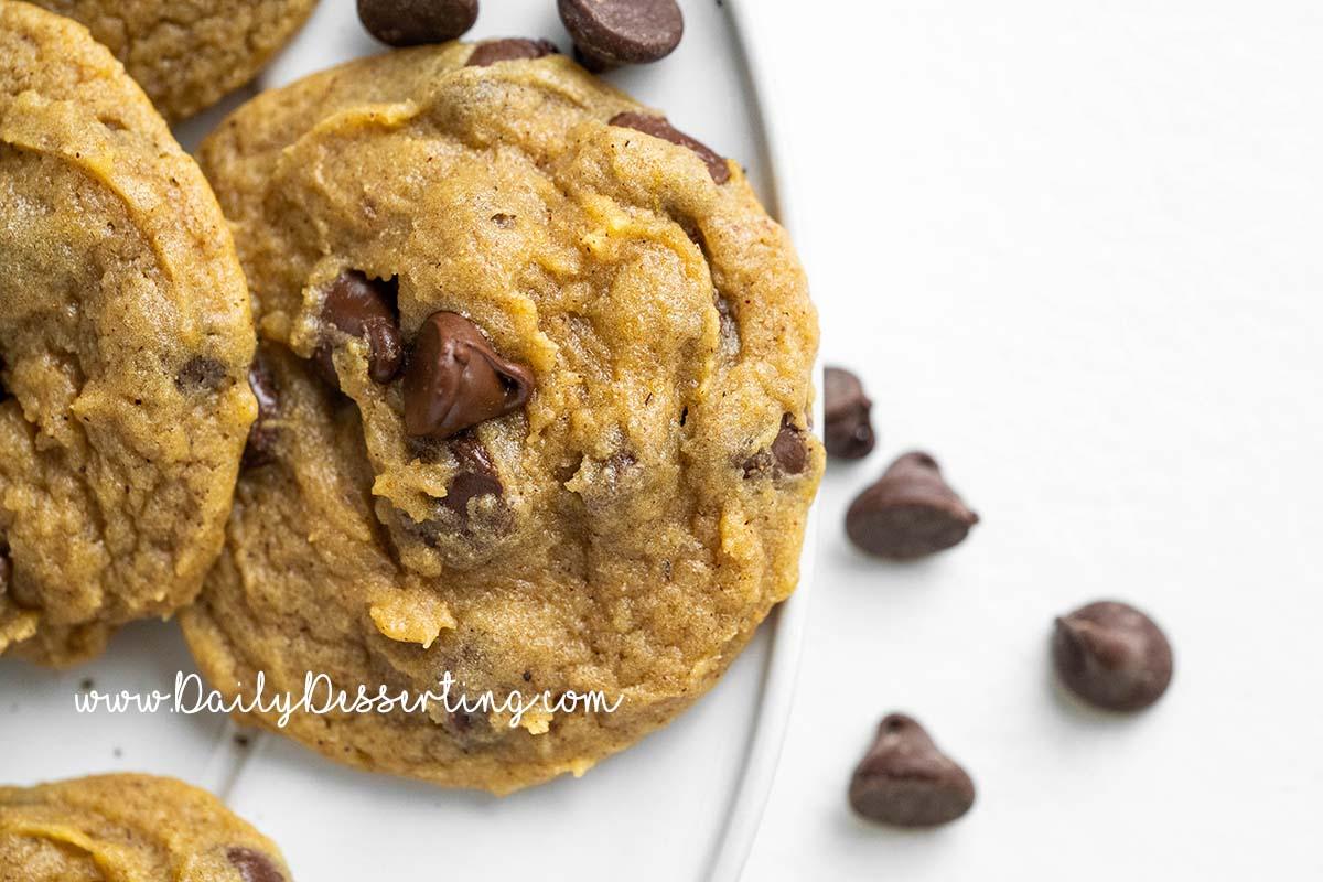 pumpkin chocolate chip drop cookies