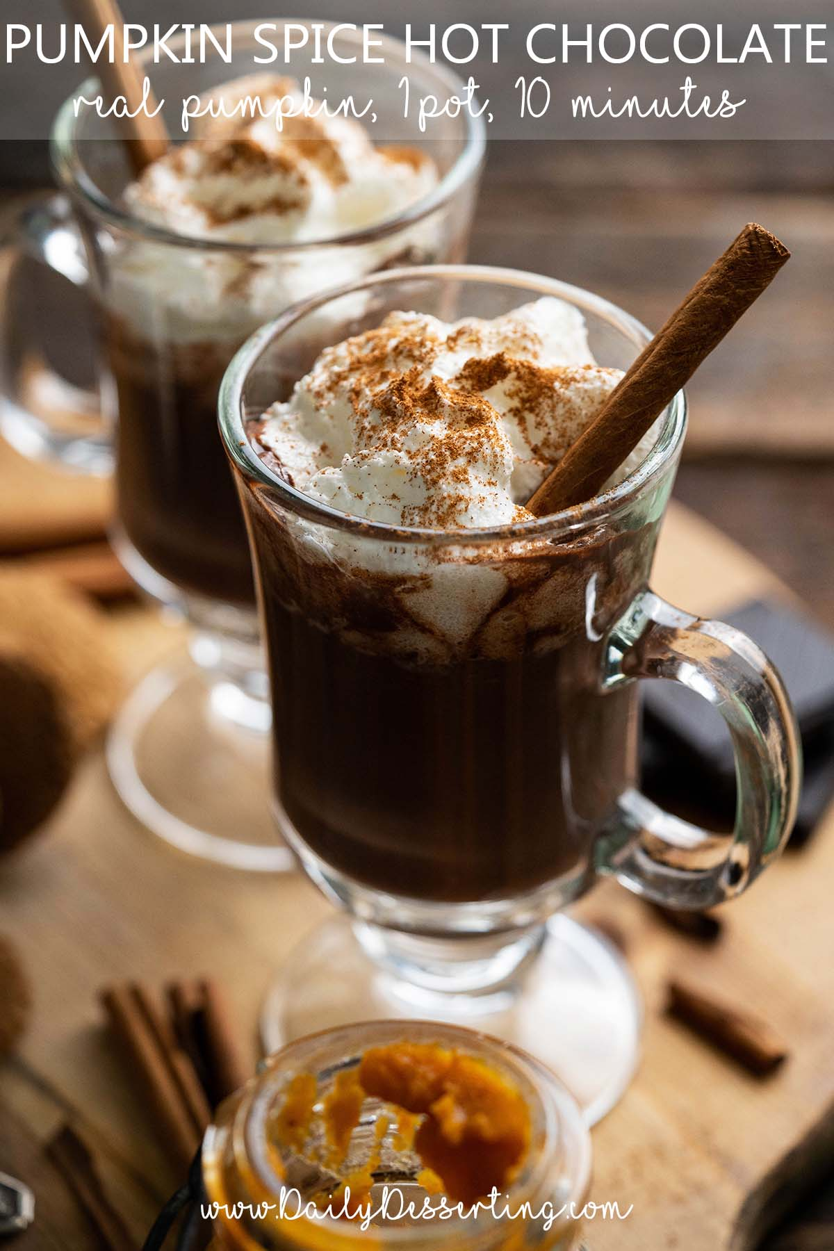 pumpkin spice hot chocolate graphic