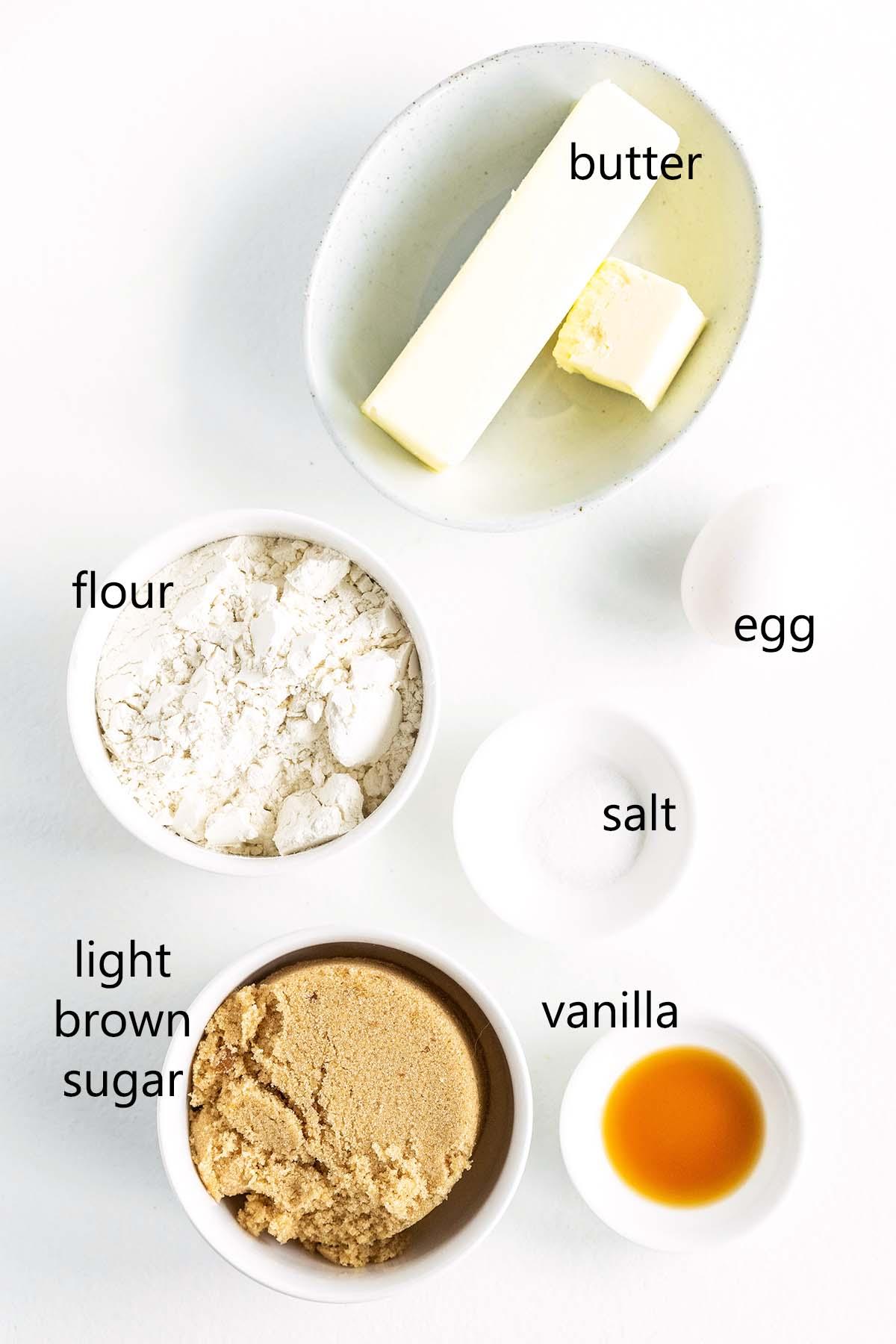 salted brown butter blondies ingredients