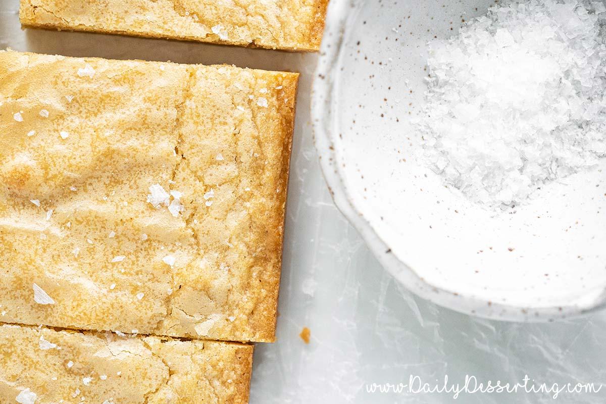salted brown butter blondies recipe