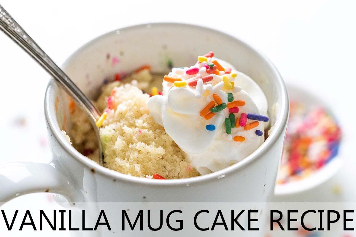 vanilla mug cake recipe with description