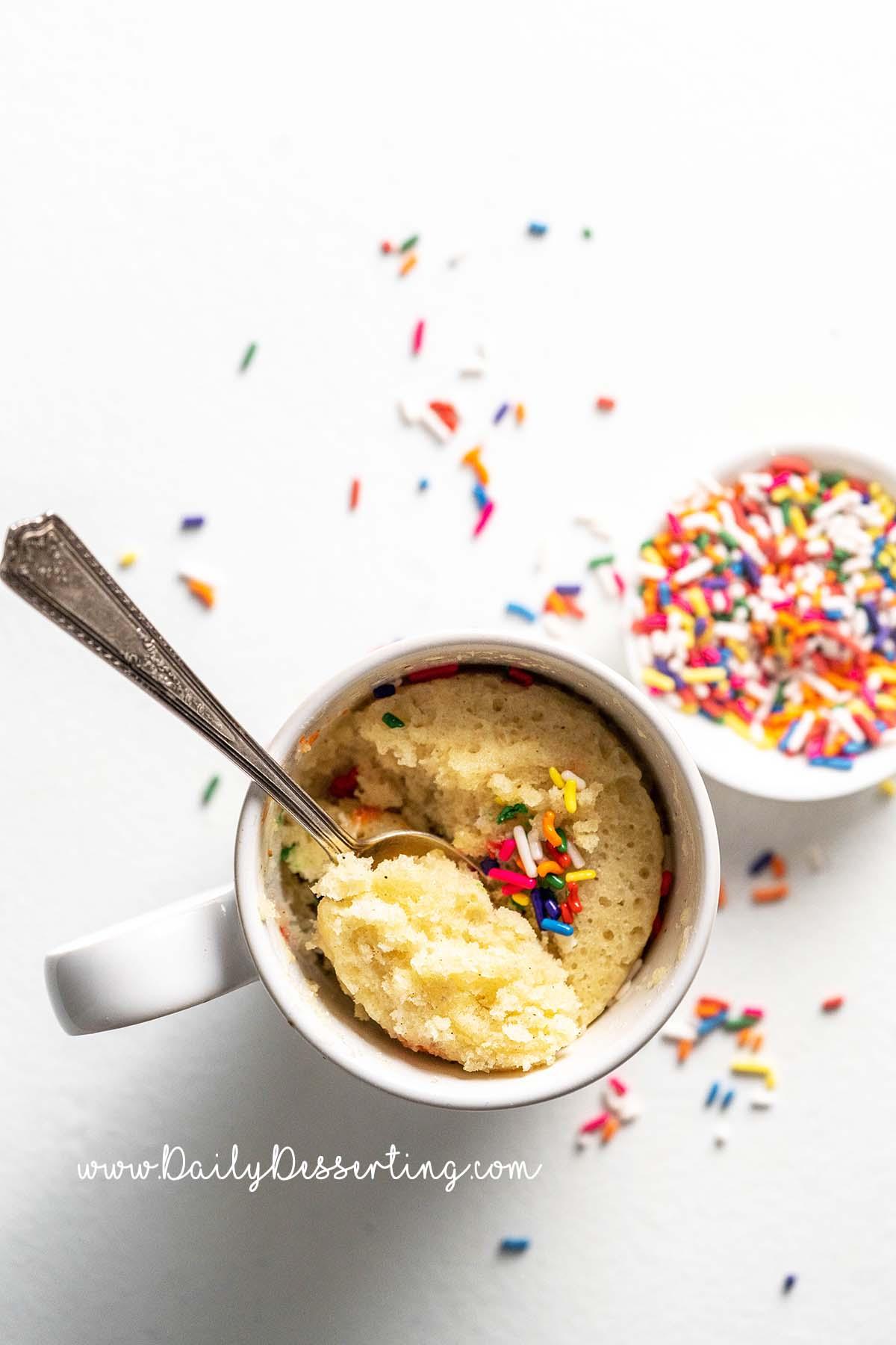 vanilla mug cake recipe made without eggs