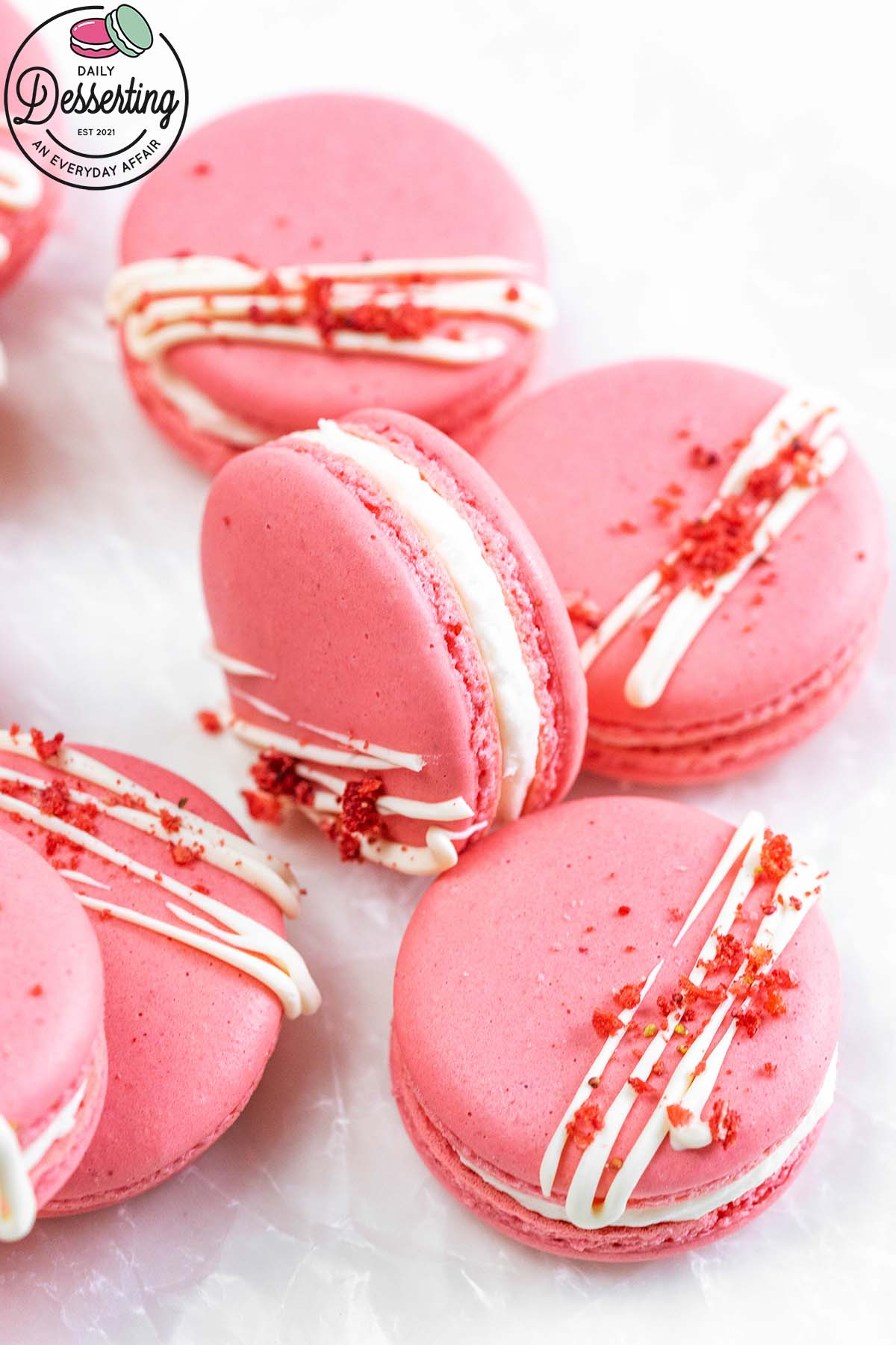 foolproof strawberry macarons