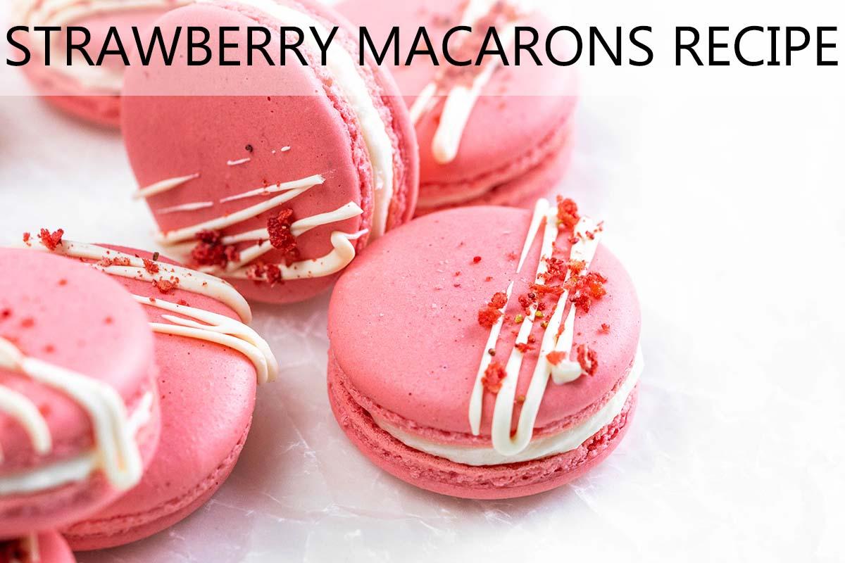 strawberry macarons recipe with description
