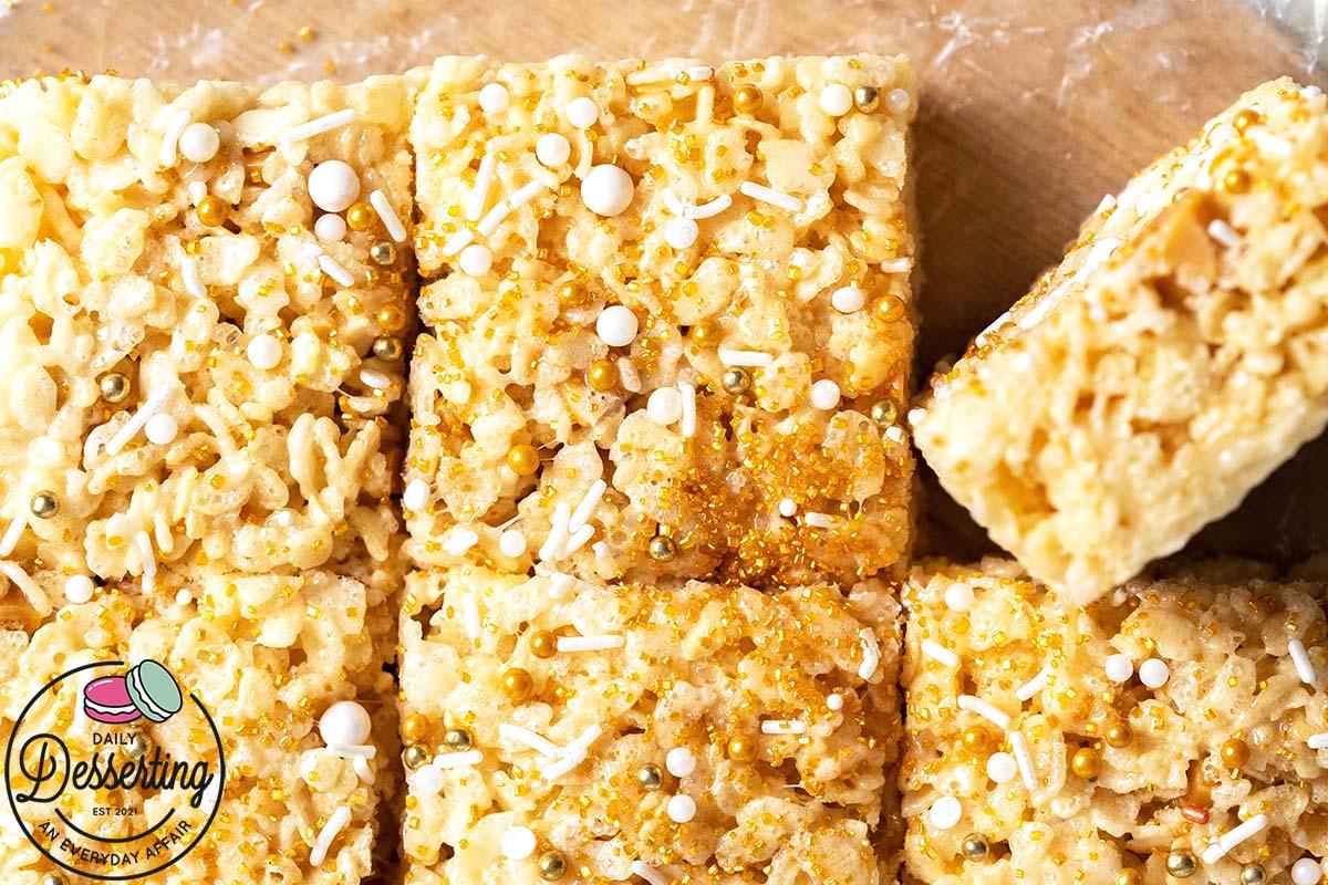 gooey butterscotch rice krispies treats