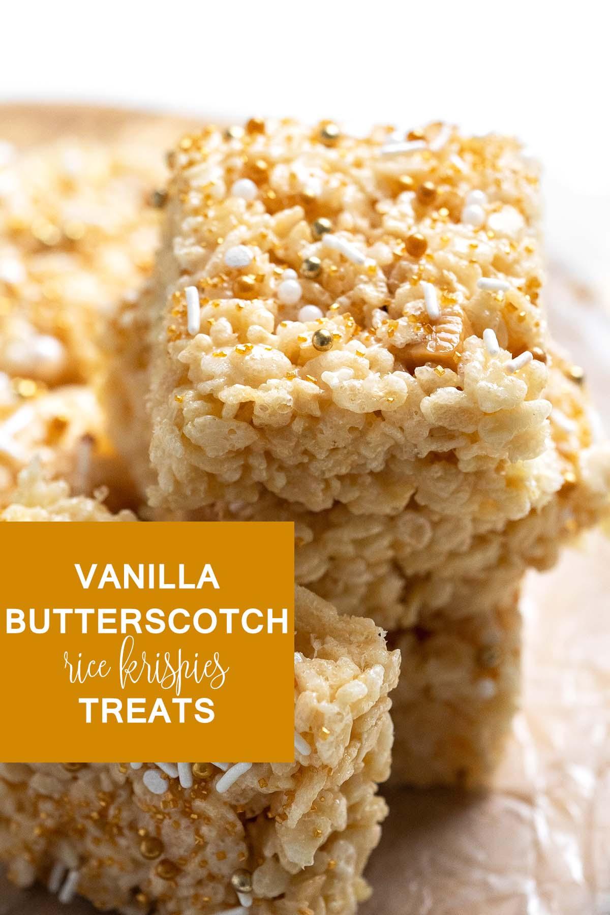 vanilla butterscotch rice krispies treats graphic
